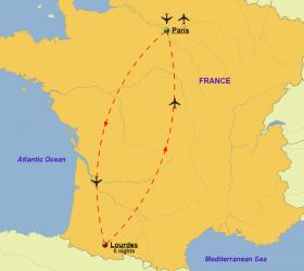 Lourdes - Map